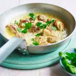 Creme Fraiche and coriander chicken